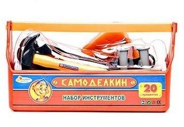Фото Детский набор строительных инструментов в ящике (В619659-R)