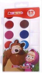 """Фото Акварельные краски """"Маша и Медведь"""" 12 цветов (22265)"""