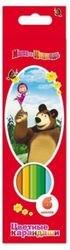 """Фото Цветные карандаши """"Маша и Медведь"""" 6 цветов трехгранные, толстые (14222/22289)"""
