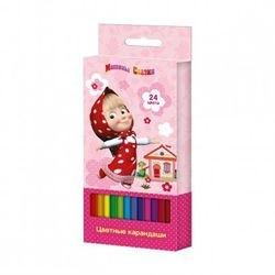 """Фото Цветные карандаши """"Маша и Медведь"""" 24 цвета (29046)"""