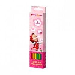 """Фото Цветные карандаши """"Маша и Медведь"""" 6 цветов (29056)"""