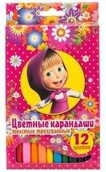 Фото Цветные карандаши 12 цветов трехгранные толстые (22291/14223)
