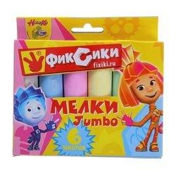 Фото Мелки Фиксики цветные 6 штук (86433)