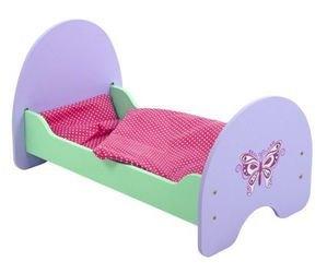 Фото Кроватка для кукол деревянная Бабочка 51*30*25 см (67117)