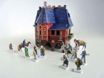 Сборная модель из картона Ратуша фотография 4