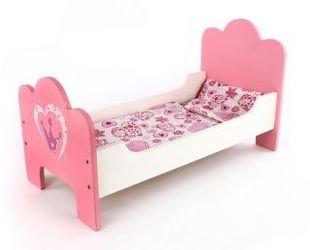 """Фото Кроватка для кукол деревянная """"Корона"""" (67114/48375)"""