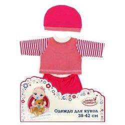 Фото Одежда для куклы 38-42 см Кофточка, брючки и шапочка в ассортименте (55/452052)