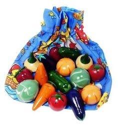 """Фото Деревянная игрушка Волшебный мешочек """"Овощи цветные"""" (Д-361)"""