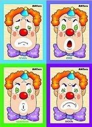 Фото Развивающая игра Картинки разрезные деревянные Клоун-эмоции 6 шт (Д-059)