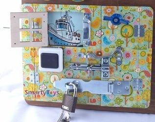 Бизиборд для мальчика №1 40х50 (7902) фотография 4