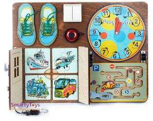 Бизиборд для мальчика №1 40х50 (7902) фотография 9