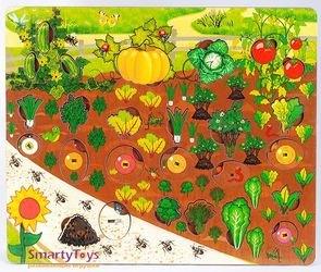 Развивающая деревянная игра Овощи на грядке (7907) фотография 2