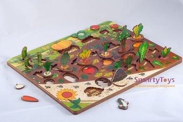 Развивающая деревянная игра Овощи на грядке (7907) фотография 12