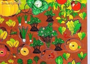 Развивающая деревянная игра Овощи на грядке (7907) фотография 4