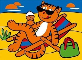 Фреска (песчаная картинка) На пляже фотография 2