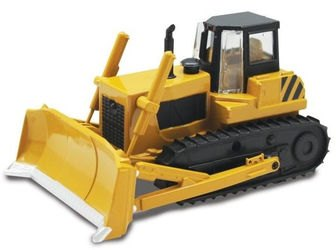 Фото Масштабная модель Трактор с грейдером гусеничный 1:48 со светом и звуком (870157)