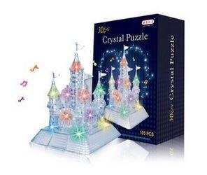 Фото Кристальный пазл 3Д Замок со светом и музыкой XL 105 деталей (9020А)