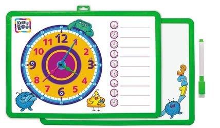 Фото Доска для рисования с часами и маркером зеленая(62778)