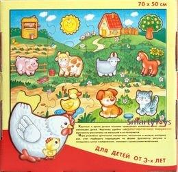 Напольный пазл В деревне (Мозаика для малышей) фотография 2