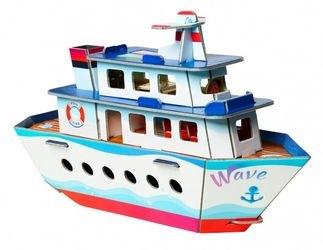 Фото Сборная модель из картона Кораблик (432)
