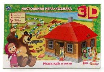 Фото Настольная игра-ходилка 3D Маша идет в гости