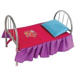 Фото Кроватка для кукол металлическая Цветочек 46х27х32 см (67126)