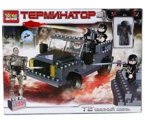 Фото Конструктор Терминатор 2 Стреляющий джип с фигурками 150 деталей (BB-6761-R)