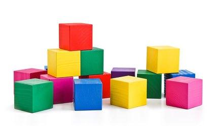 Кубики деревянные цветные (20 шт.) фотография 3