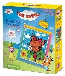 Фото Набор для творчества Фреска с блестками Три кота Карамелька (405101)