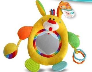 Фото Мягкая развивающая игрушка для малышей с зеркальцем МиниБамбини (7581/00649591)