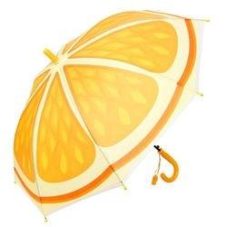 Фото Зонт детский прозрачный Фрукты Апельсин 48 см (52466)