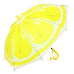 Фото Зонт детский  прозрачный Фрукты Лимон 48 см (52467)