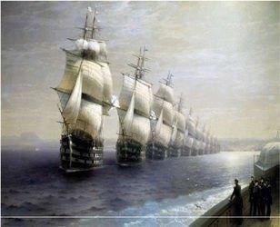 Фото Картина по номерам Айвазовский Смотр Черноморского флота 40х50 (GX3945)