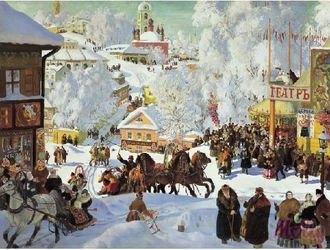Фото Картина по номерам Кустодиев Масленица 40х50 (GX8163)