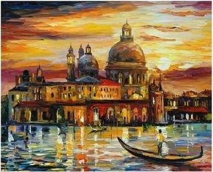 Фото Картина по номерам Афремов Золотое небо Венеции 40х50 (GX6753)