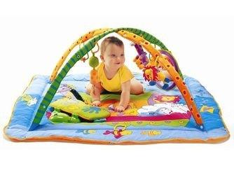 Музыкальный развивающий коврик с игровой подушечкой Зоосад фотография 4