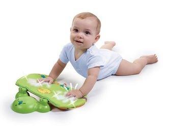 Музыкальный развивающий коврик с игровой подушечкой Зоосад фотография 7