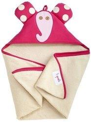 Фото Полотенце с капюшоном для детей Розовый слоник