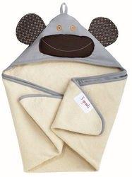 Фото Полотенце с капюшоном для детей Серая обезьянка