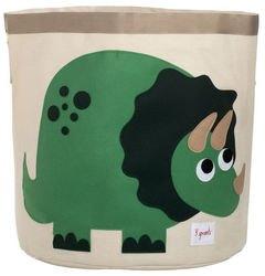 Фото Корзина для игрушек Зелёный динозаврик