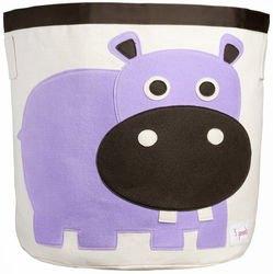 Фото Корзина для игрушек Фиолетовый бегемотик
