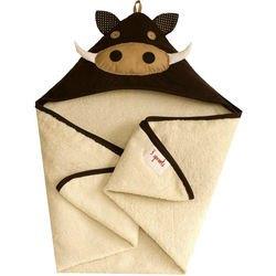 Фото Полотенце с капюшоном для детей Коричневый кабанчик