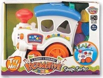 Фото Развивающая игрушка Веселый паровозик-сортер (со светом и звуком)(31521)