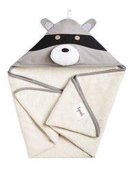 Фото Полотенце с капюшоном для детей Серый енот