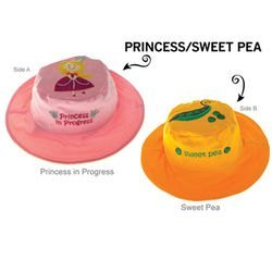 Фото Панама для девочки двусторонняя Принцесса/Горошек Размер 2 - 4 года