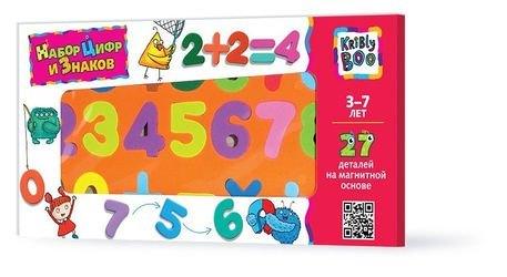 Фото Набор магнитных цифр и знаков 27 деталей (47074)