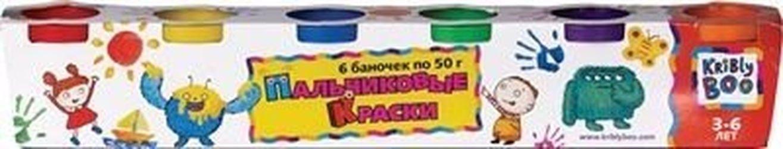 Фото Пальчиковые краски 6 цветов по 50 гр (44526)