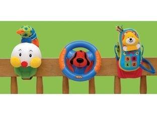 Развивающая игрушка Веселое трио. Гусеница, руль и мобильный телефон фотография 2