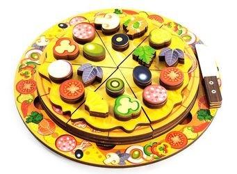 Фото Деревянная развивающая игрушка Пицца (7918)