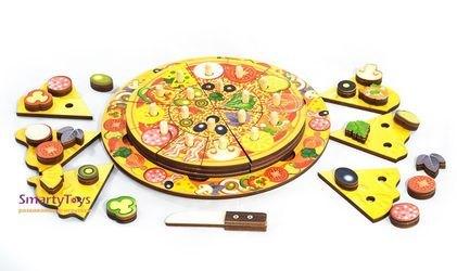Деревянная развивающая игрушка Пицца (7918) фотография 2